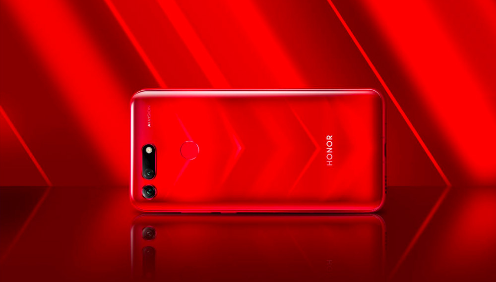Honor View 20 rouge