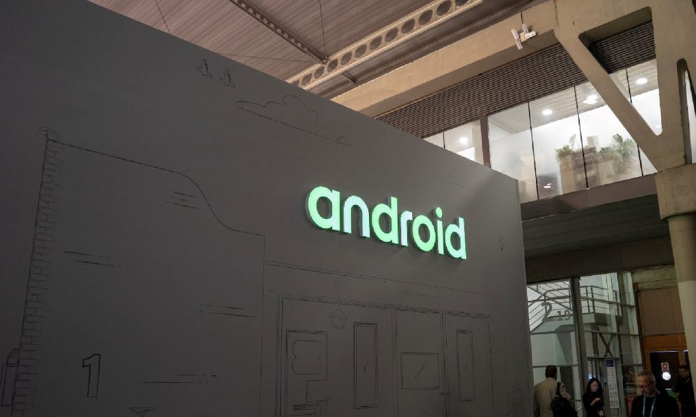 Le logo d'Android au Mobile World Congress 2019