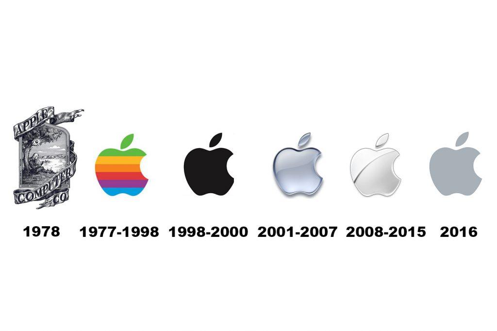 Apple logo évolution