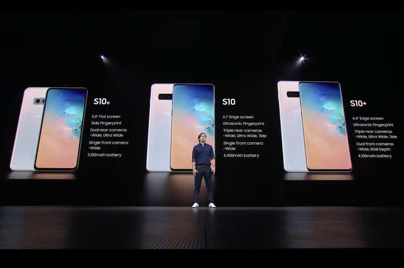 Comparatif Galaxy S10 versus S9