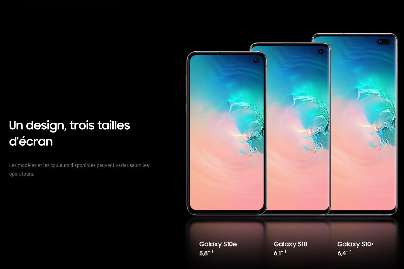 Samsung Galaxy S10e vs S10 vs S10+