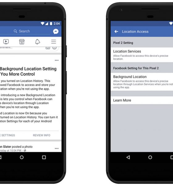 facebook geolocalisation Android