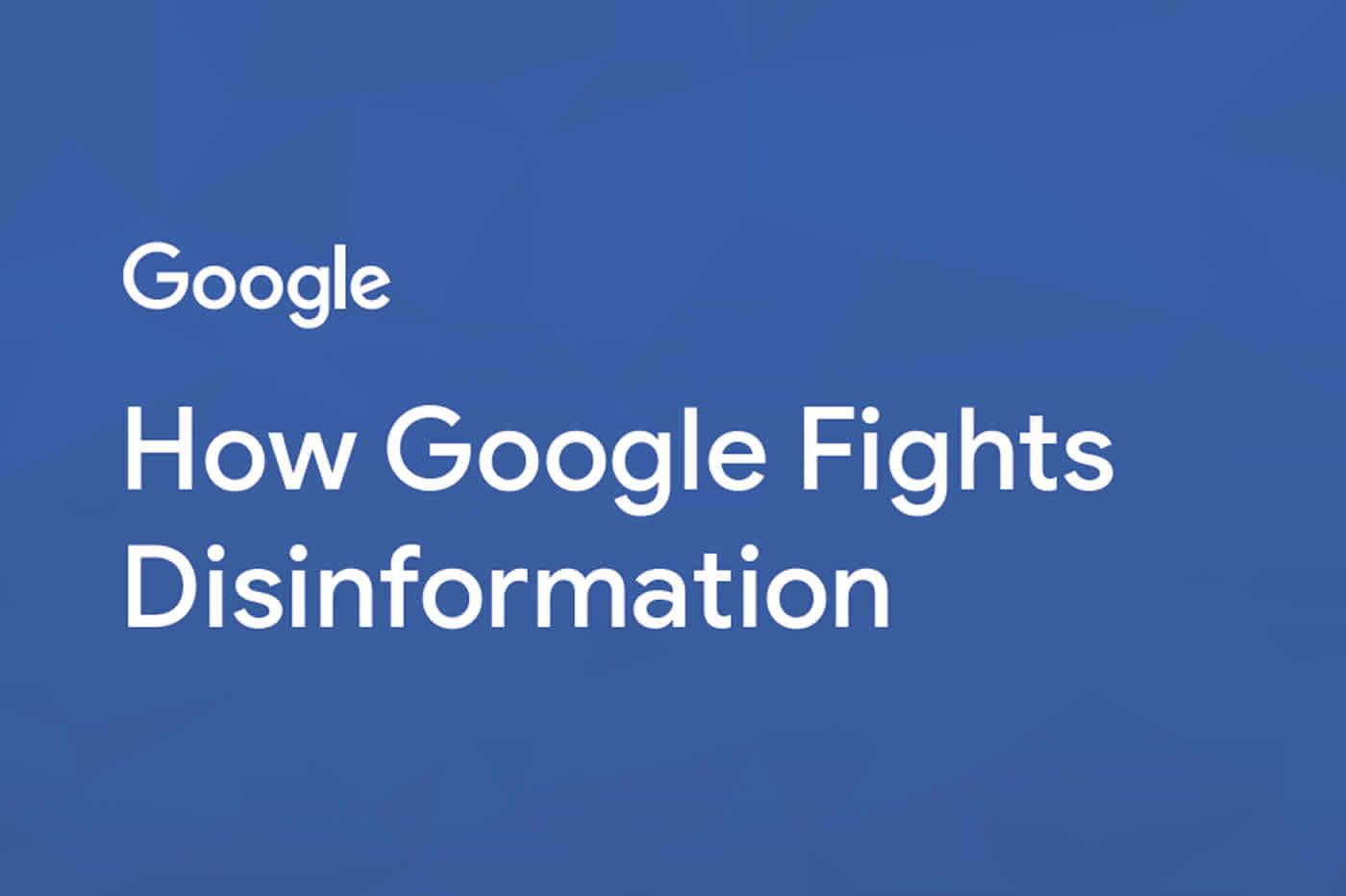 Google et fake news