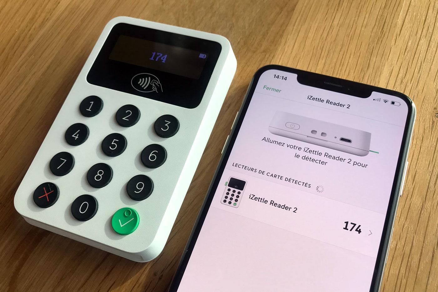 Allumer le iZettle Reader 2 pour établir la connexion