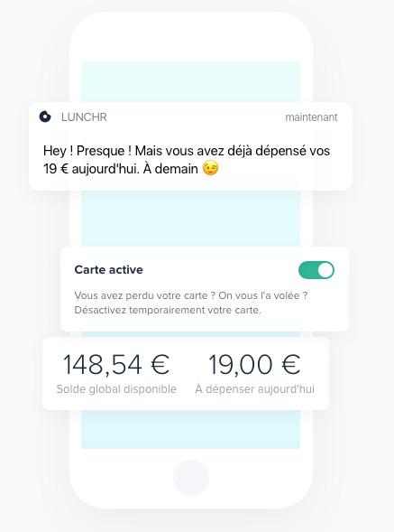 startup Lunchr notification