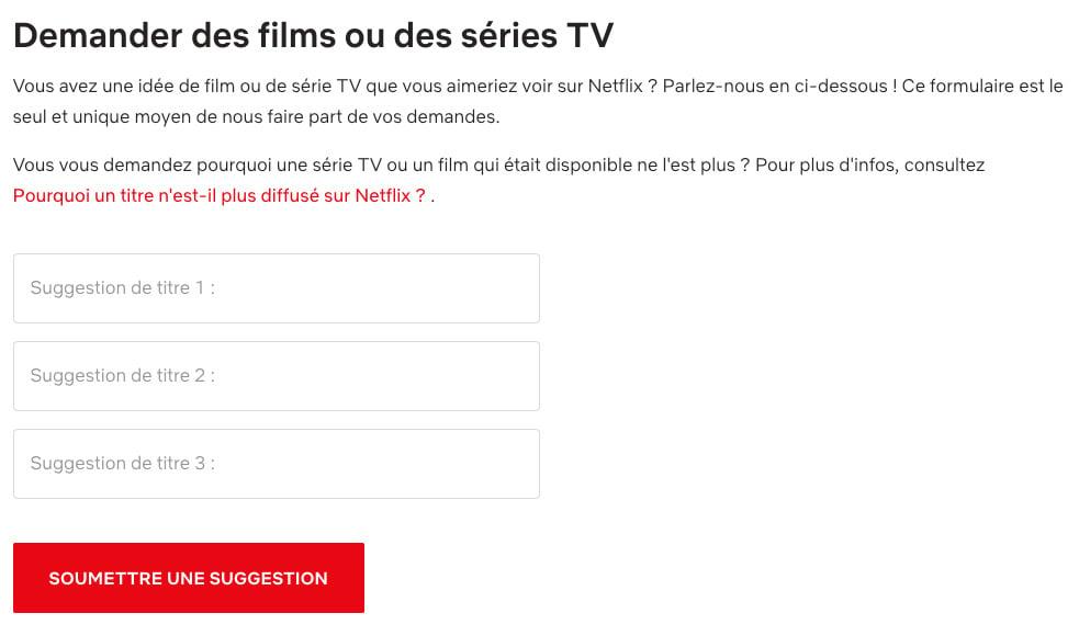 Netflix proposer films et séries