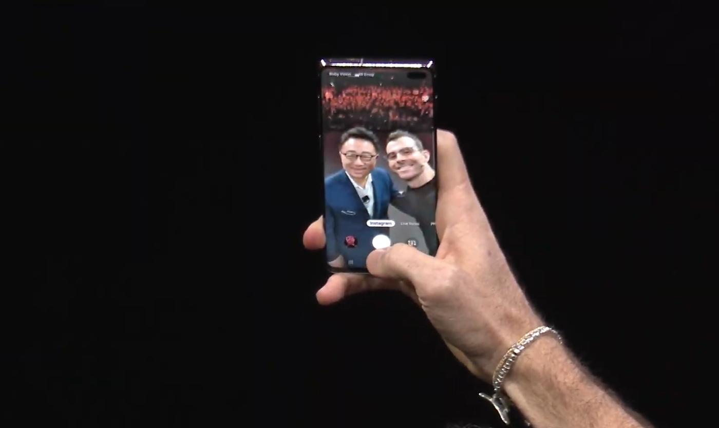 Samsung Galaxy S10 selfie