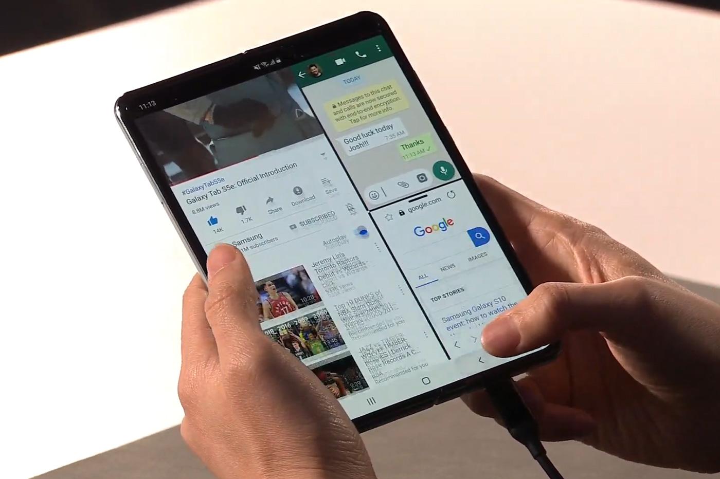 Samsung Galaxy fold navigation