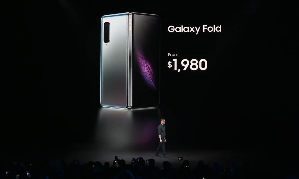 Samsung Galaxy fold prix