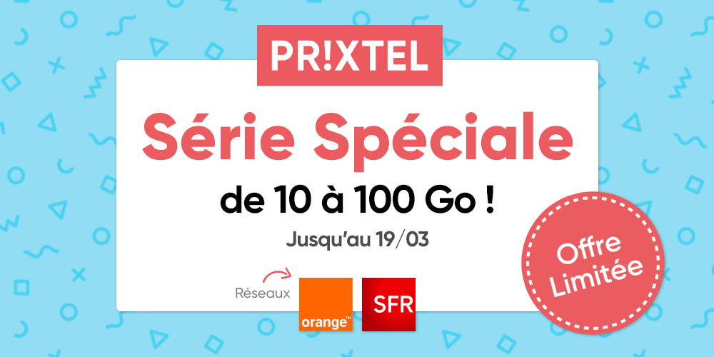 Forfait Mobile Prixtel 19 mars sur réseau Orange et SFR