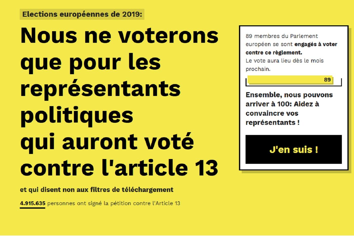 Directive droit d'auteur et article 13