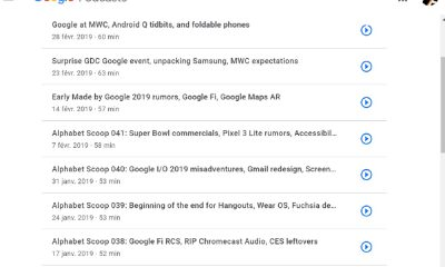 Google Podcasts sur web