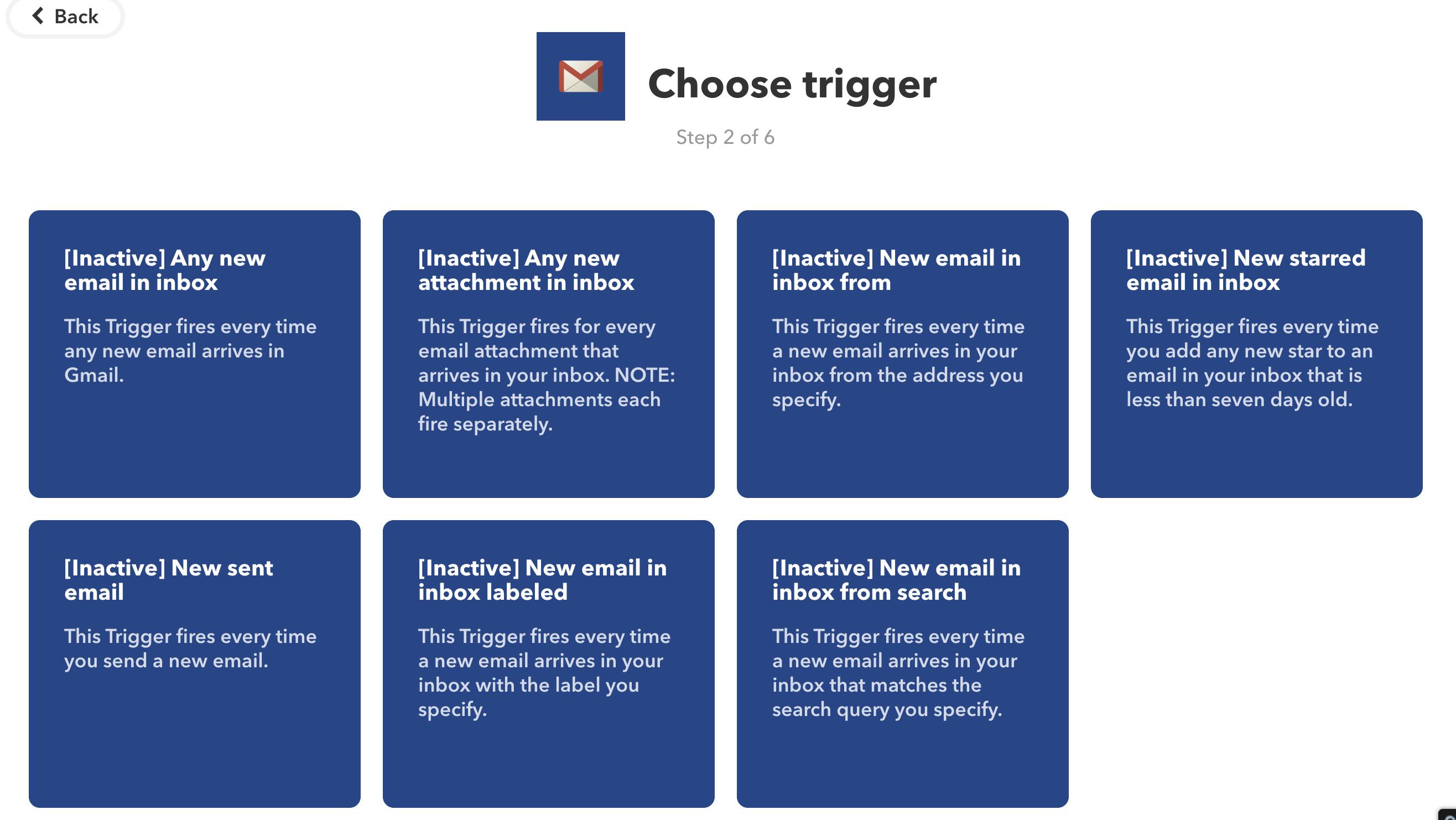 Trigger Gmail IFTTT