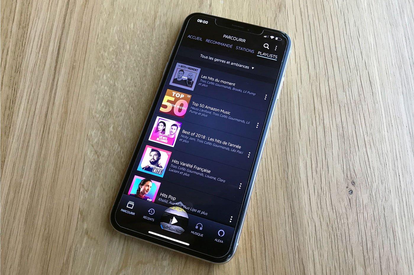 L'application mobile Amazon Music