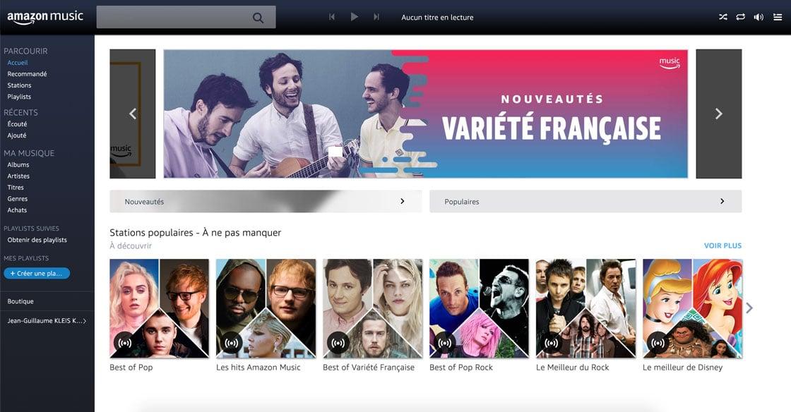 Amazon Music dans votre navigateur