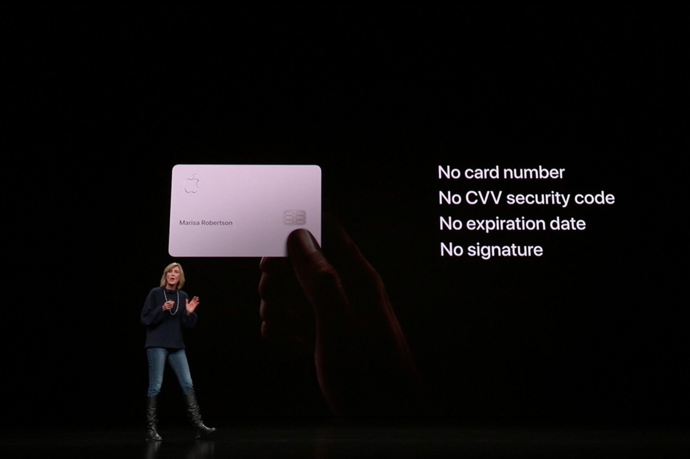 Apple card carte signature