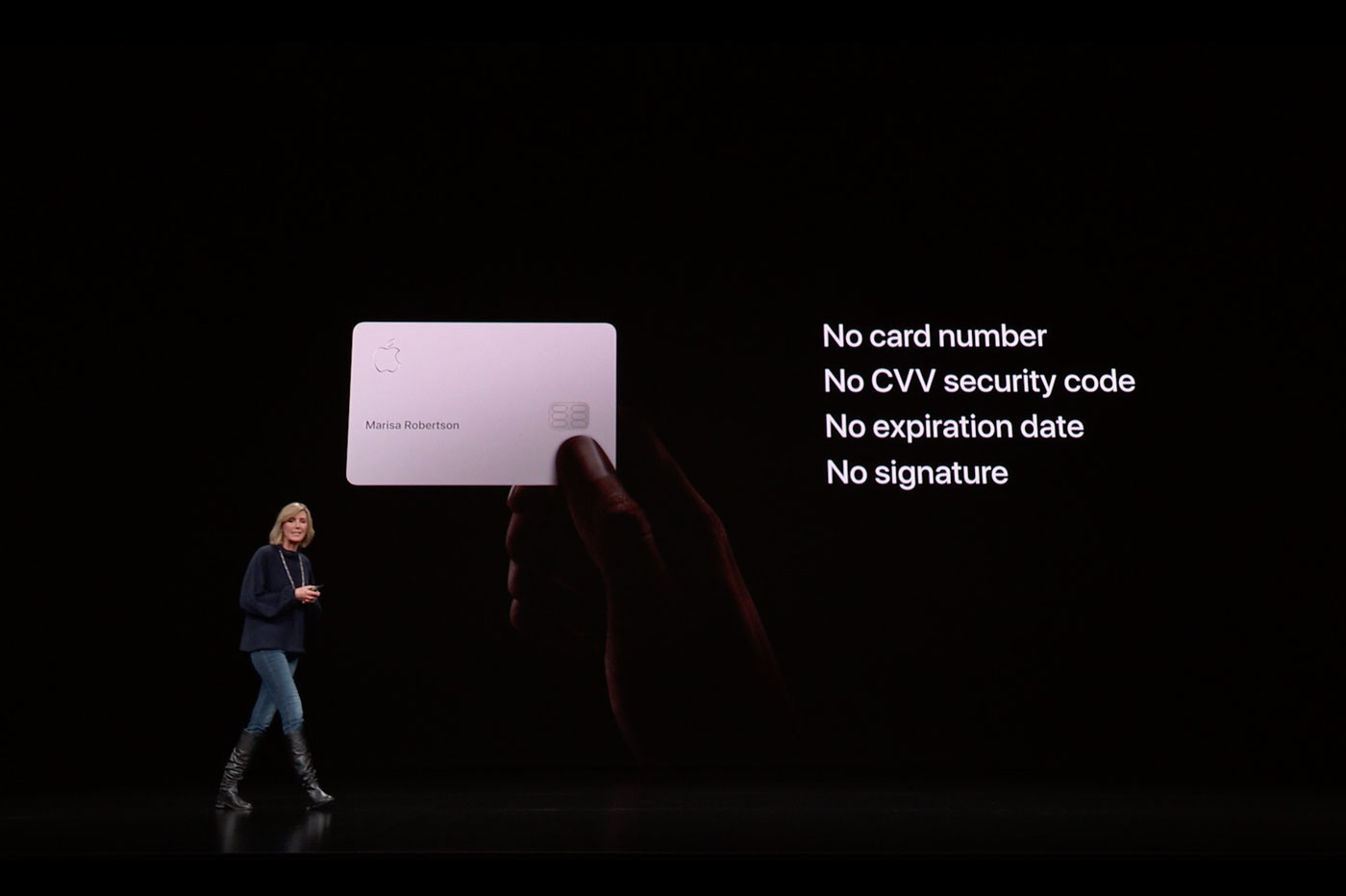 Apple Card: aucun numéro