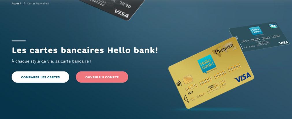 Carte bancaire Hello bank!