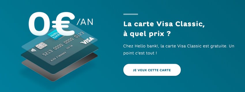 Carte Visa Classic Hello bank!