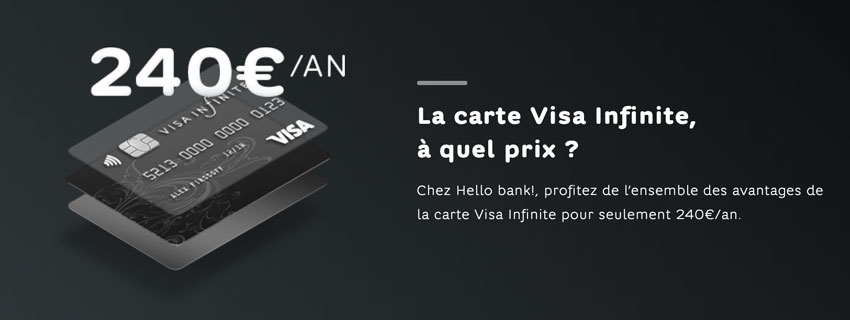 Carte Visa Infinite Hello bank!