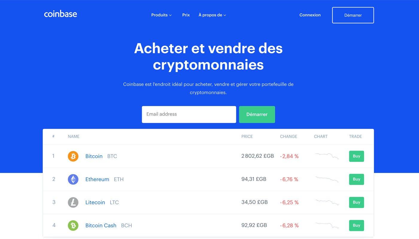 Coinbase sécurise les crypto-monnaies en ligne