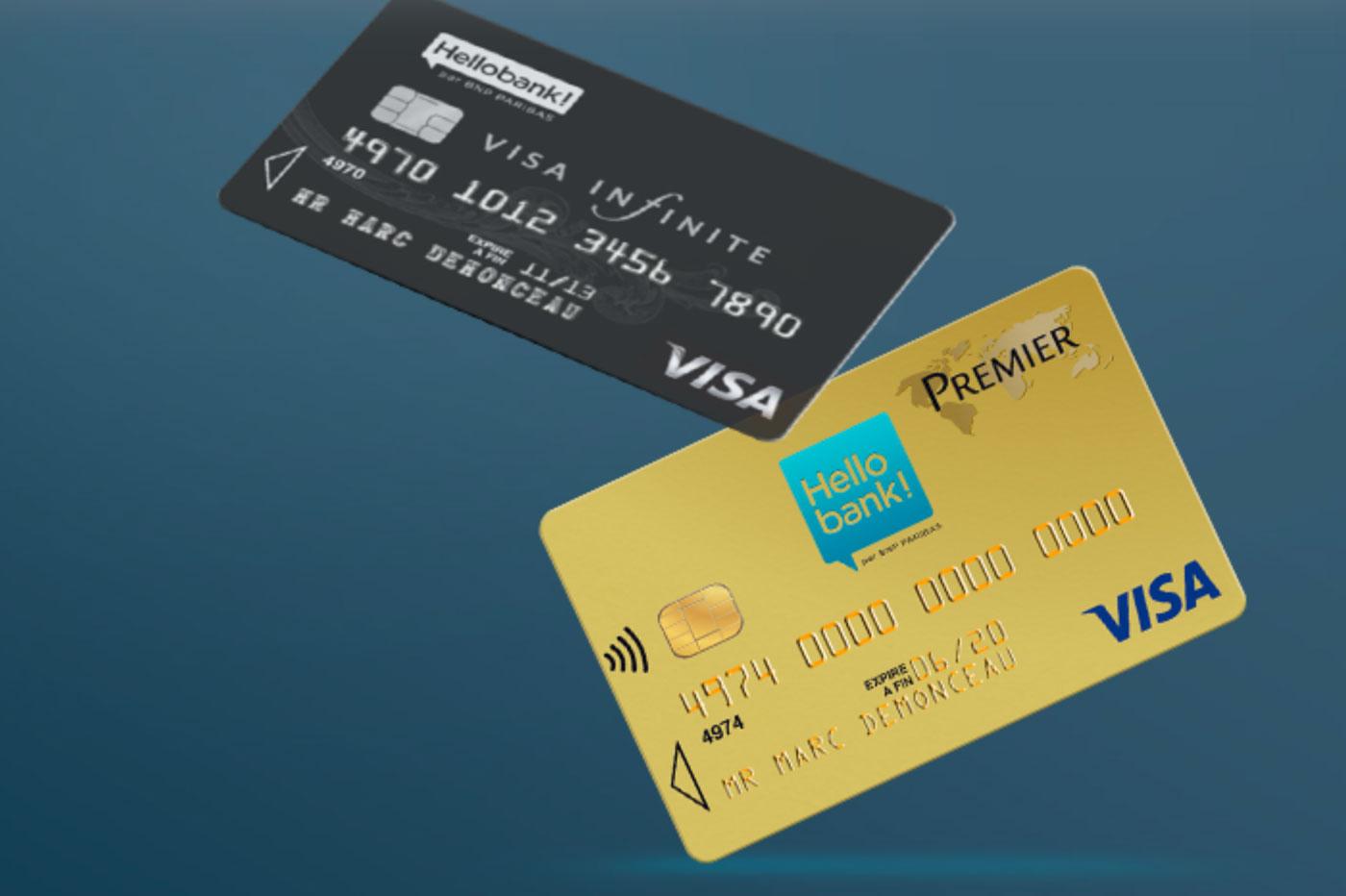 Comparaison: Hello bank! Visa Premier vs Visa Infinite