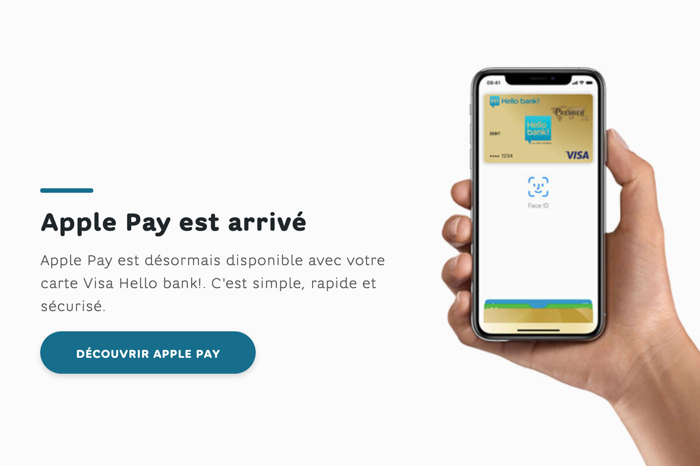 Hello bank! supporte Apple Pay