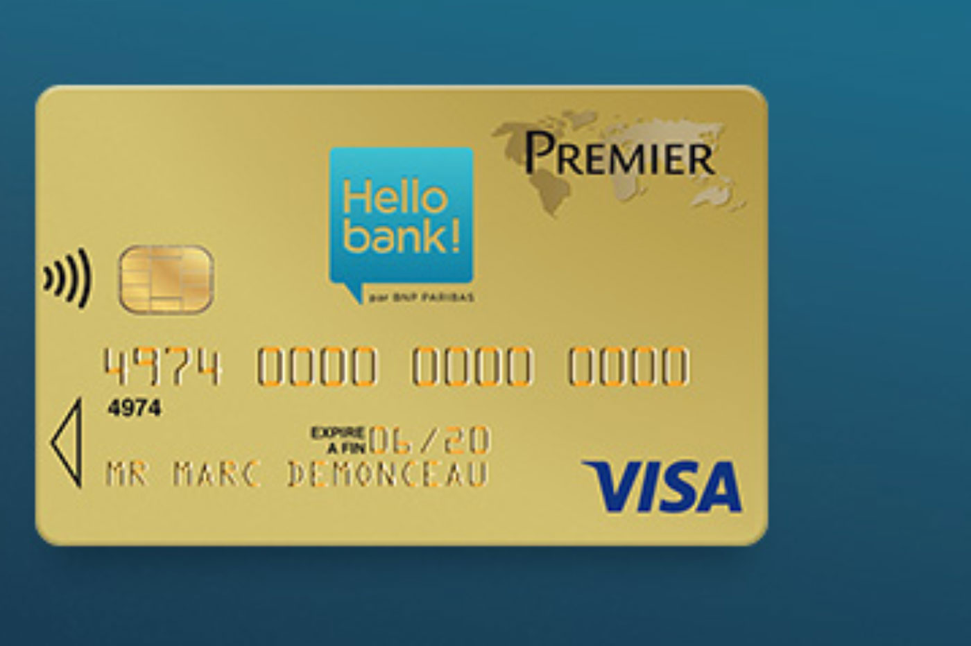 Carte Visa Premier Hello bank!