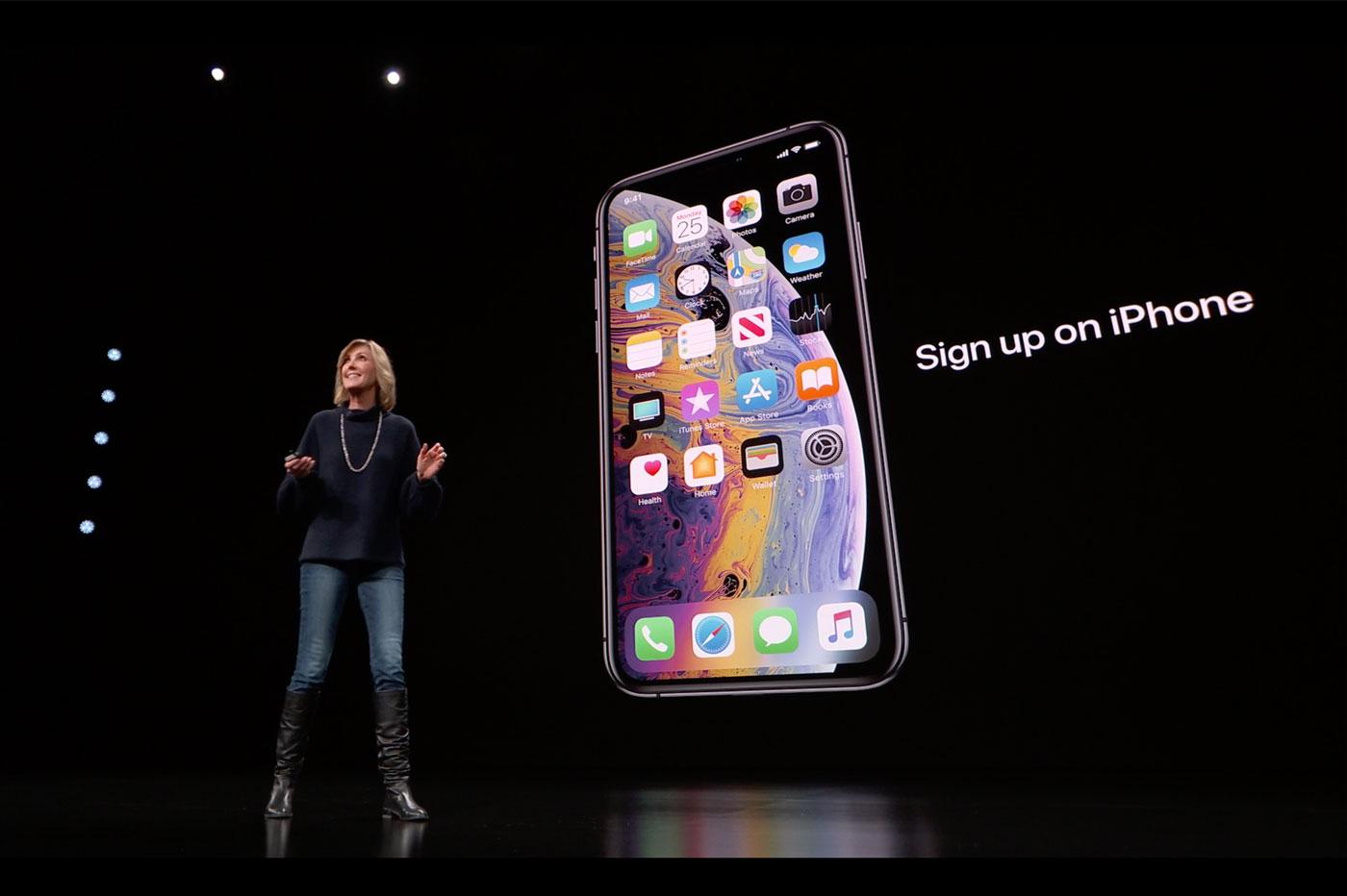 Inscription à l'Apple Card