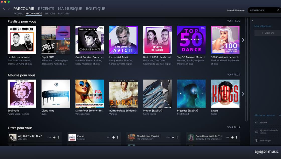 Suggestions Amazon Music