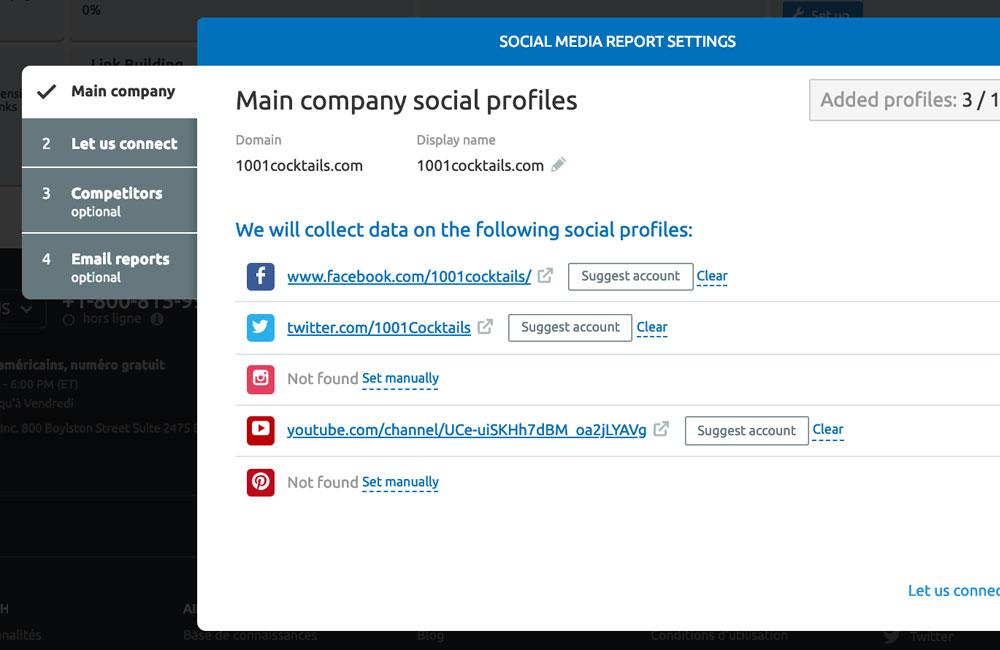Social Tracker sur SEMrush