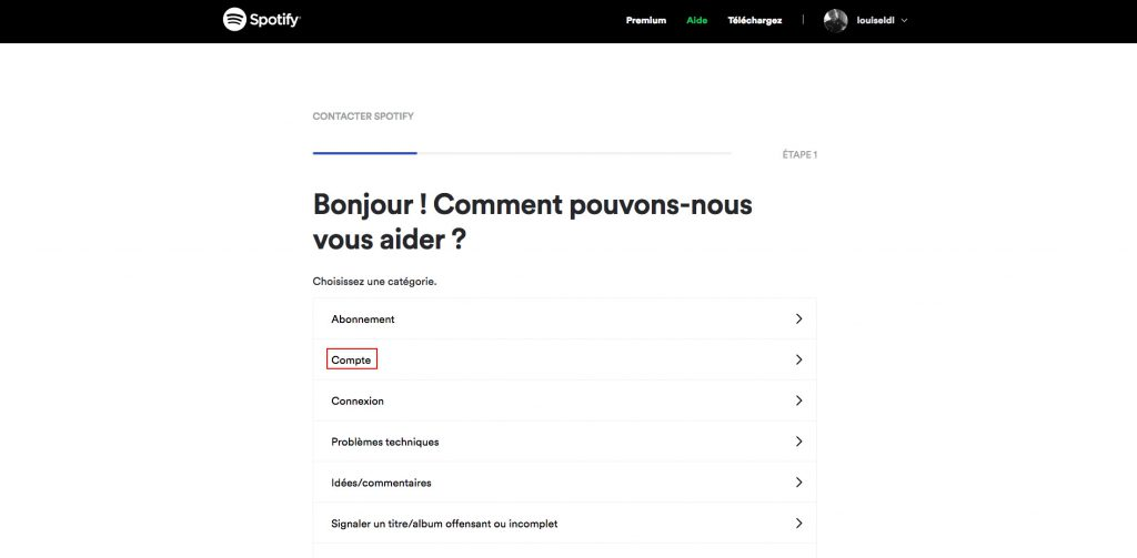 Supprimer compte Spotify compte