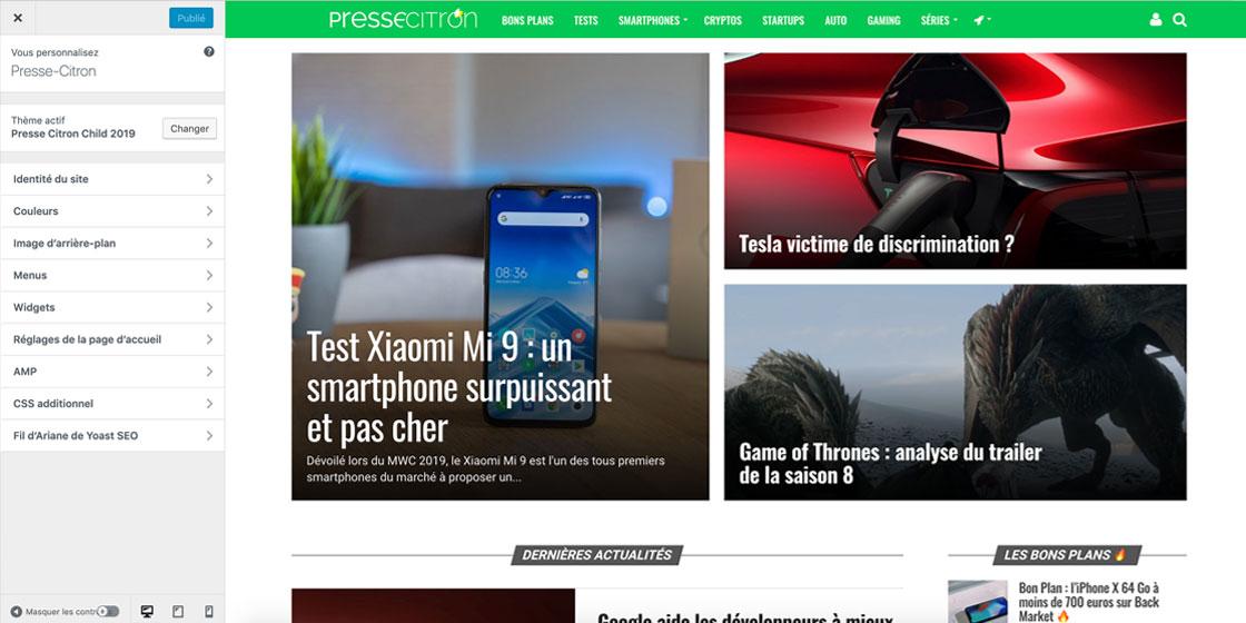 Éditeur WordPress