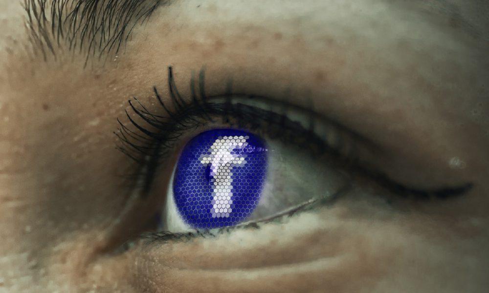 Facebook, logo, oeil