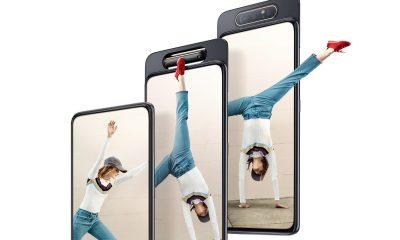 L'écran du Samsung Galaxy A80