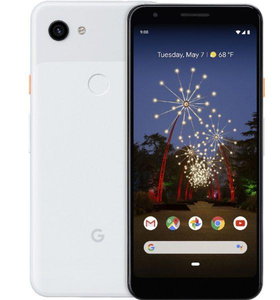 Le Google Pixel 3a d'après Evleaks