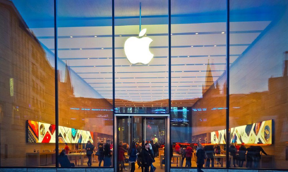 Le logo d'Apple sur un batiment