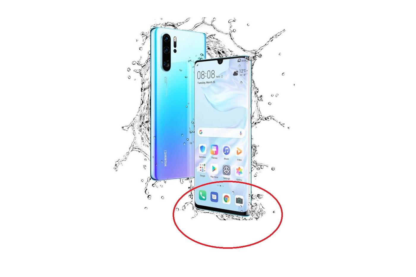 Le menton du P30 Pro de Huawei