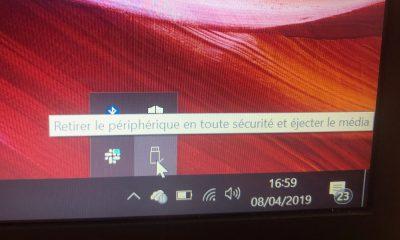retirer une clé USB sur Windows 10