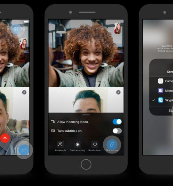 Skype et partage d'écran