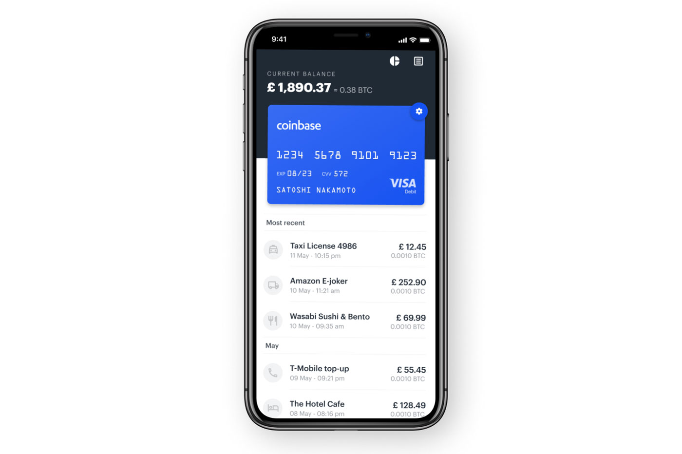 Application Coinbase Card