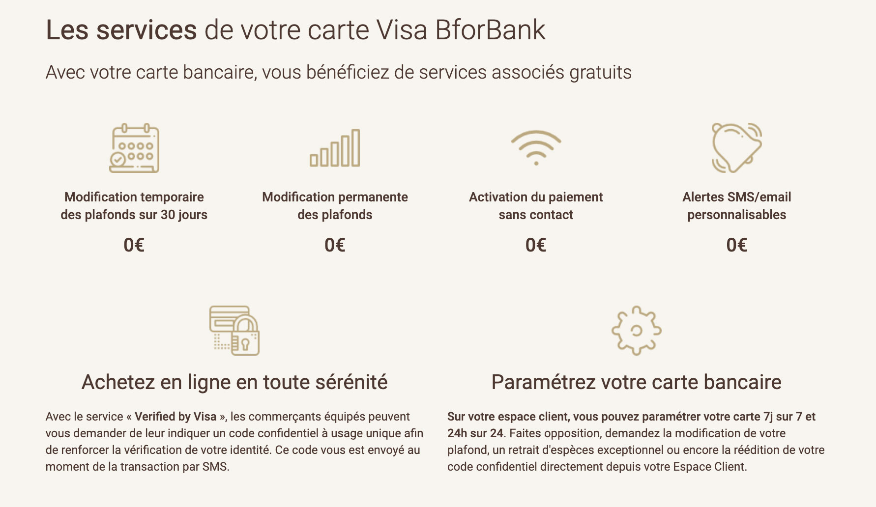 Carte gratuite BforBank