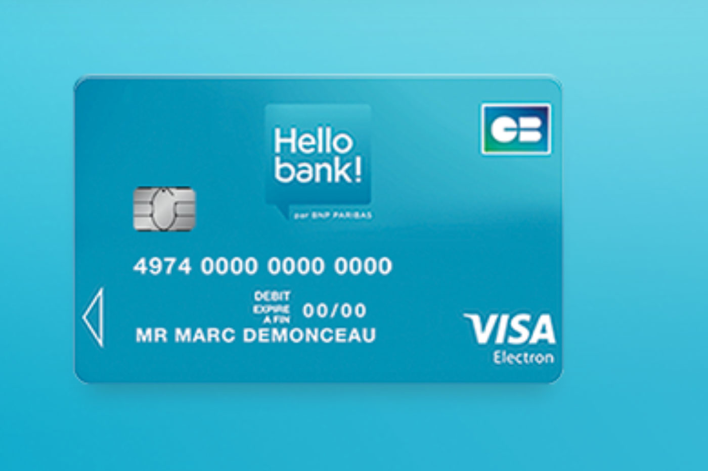 Carte Visa Electron Hello bank!