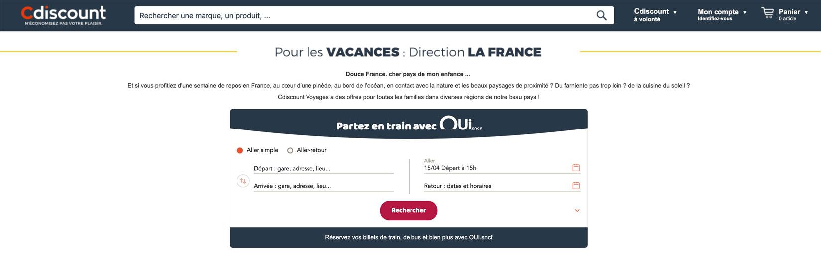 Cdiscount SNCF