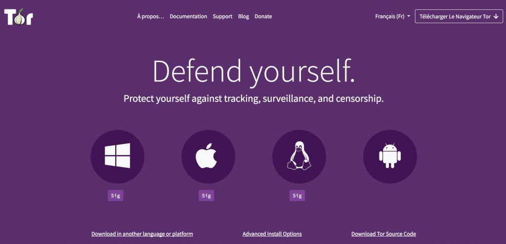 Dark web Tor Project