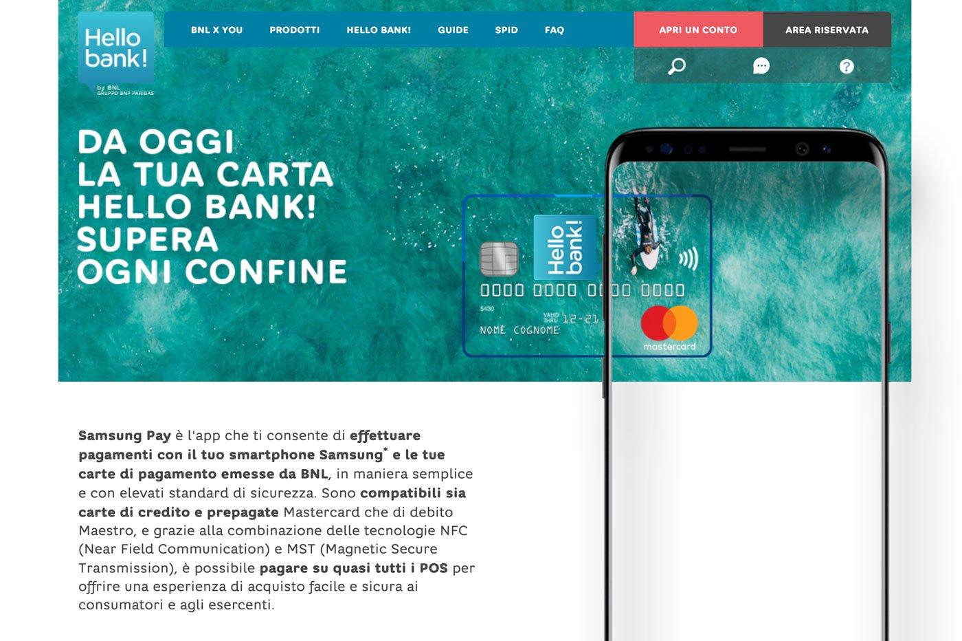 Hello bank! et Samsung Pay