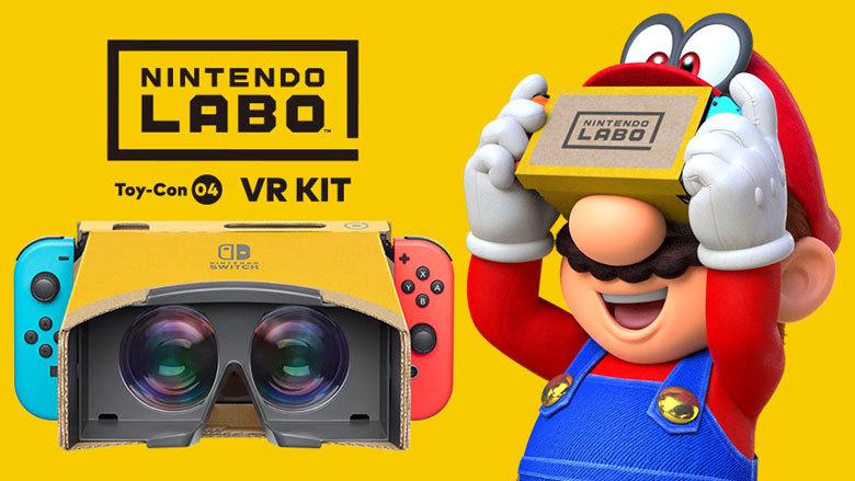 Super Mario Odyssey Nintendo Labo VR