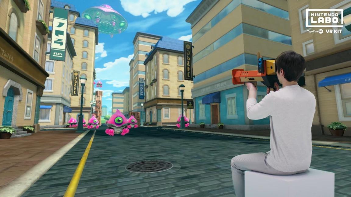 Mini-jeu alien Nintendo Labo VR