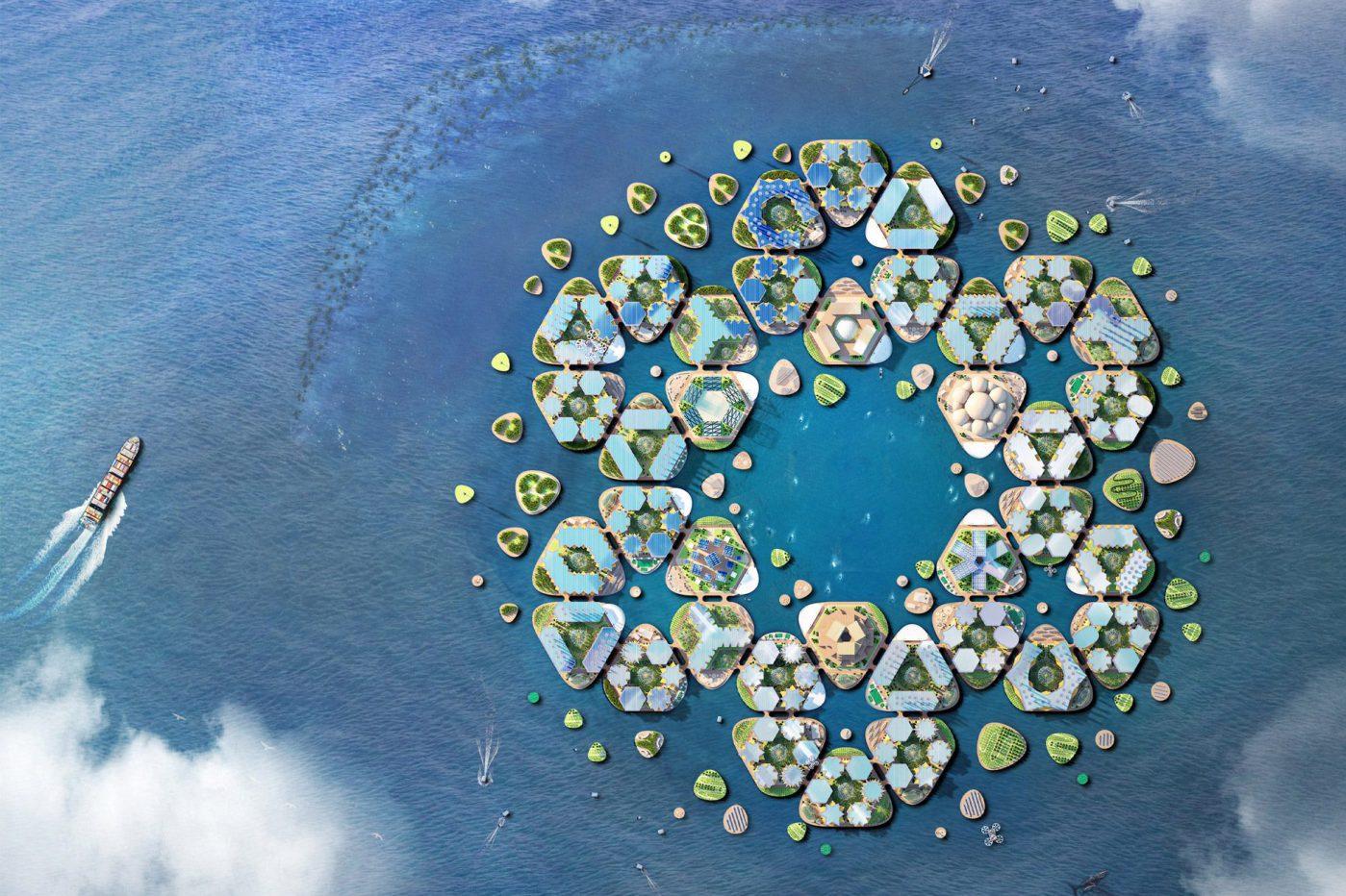 Face au changement climatique, l'option des villes flottantes