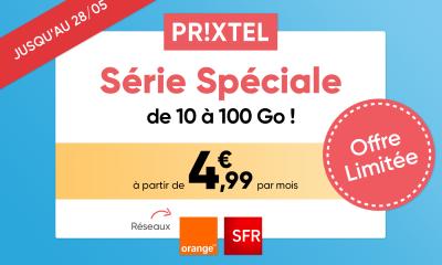 Forfait mobile Série spéciale Prixtel 28 mai
